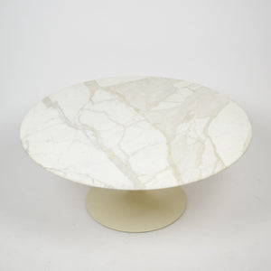 SOLD Eero Saarinen For Knoll 36 Inch White Marble Tulip Coffee Table 1960's