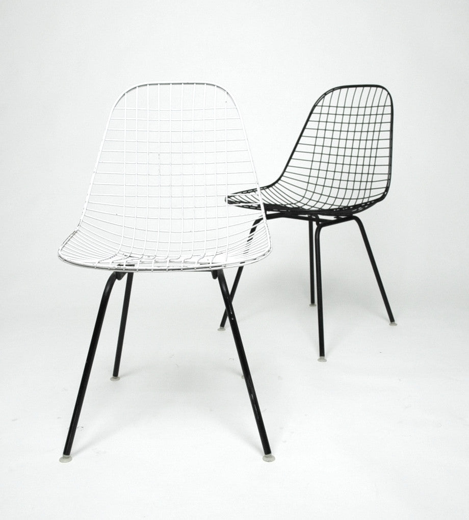 Attirant Herman Miller Eames 1960u0027s Wire Desk Dining Task Chair (Black And White  Available)