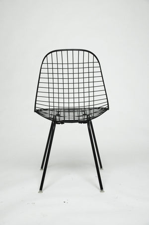 Herman Miller Eames 1960u0027s Wire Desk Dining Task Chair (Black And White  Available)