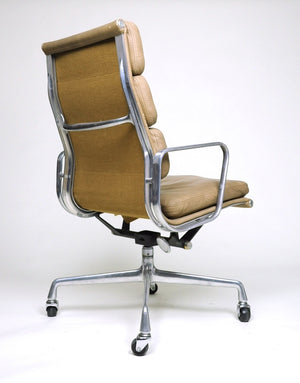 SOLD Eames Herman Miller Soft Pad High Back Aluminum Group Chairs Set Of Six
