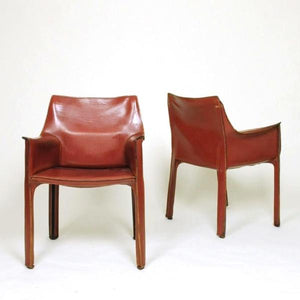 SOLD Cassina Cab Armchairs by Mario Bellini (Set Of Six)