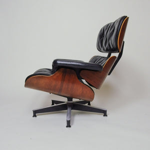 SOLD Herman Miller Eames Lounge Chair and Ottoman Rosewood 1957