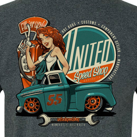 Fill 'er Up! United Speed Shop tshirt
