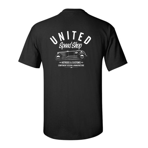 United Speed Shop Roadster Workshop tshirt