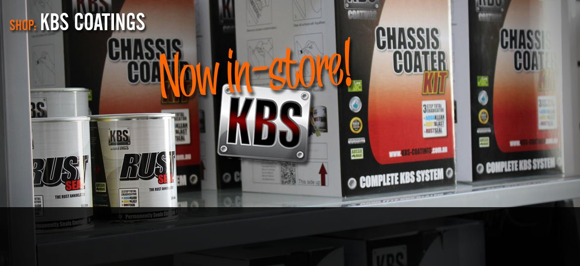 We are now carrying the range of KBS Australian made paints and surface prep-coatings. See us in-store or order here via the web