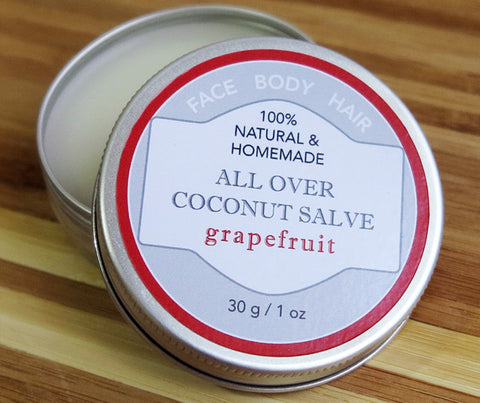 Theristes All-Over Coconut Salve with Grapefruit Essential Oil. 30g. (RI02)