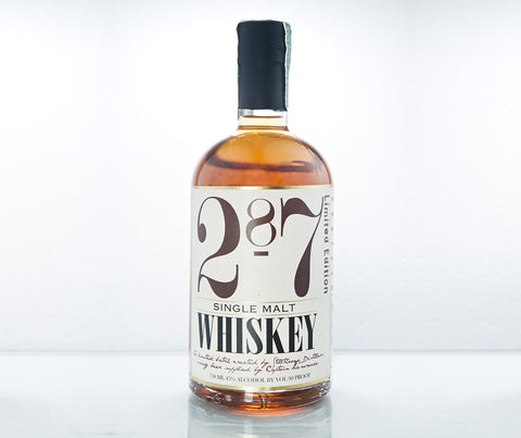 287 Single Malt Whiskey. 750 ml. (BT07).