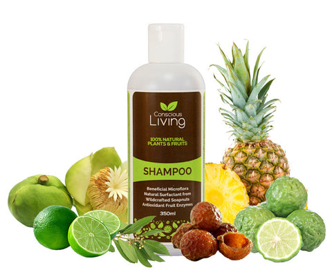 Conscious Living 100% Natural Shampoo. 350ml. (CL01)