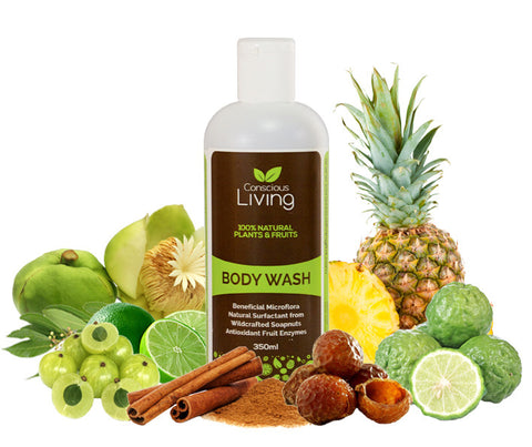 Conscious Living 100% Natural Body Wash. 350ml. (CL03)
