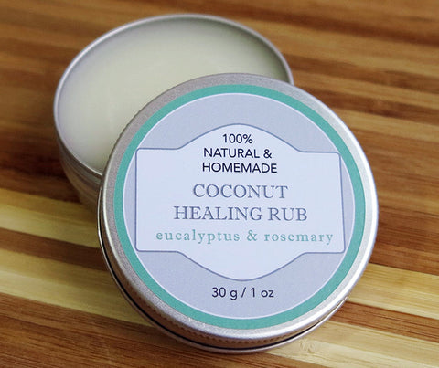 Theristes Healing Rub with Eucalyptus and Rosemary Essential Oils. 30g. (RI03)