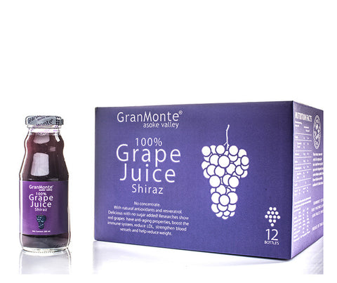 Granmonte Shiraz Grape Juice. 12 bottles. 200ml per bottle. (GMT012)