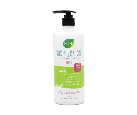 Hug Organic Rose Body Lotion. 500ml. (HG12)