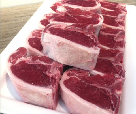 Australian Lamb Shortloin Saddle - T-bone (4 pcs). 460g. (AB009)