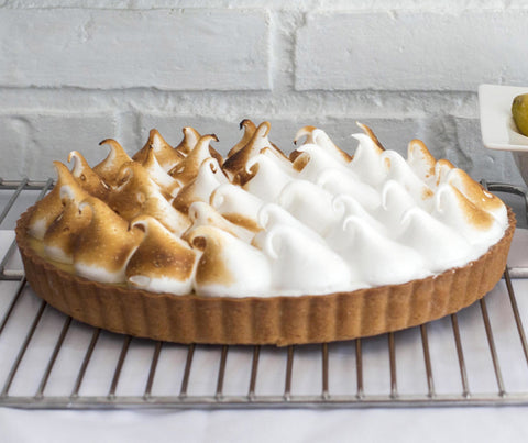 Lemon Meringue Tart (whole tart). (YS018)