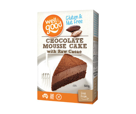 Gluten Free Chocolate Mousse Cake with Raw Cacao. 500g. (SSL06)