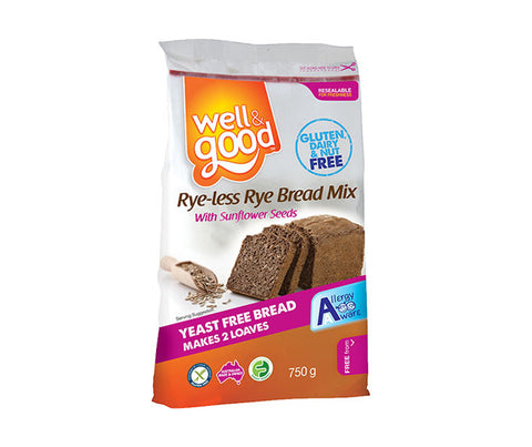 Gluten Free Soft Rye-less Rye Bread Mix. 750g. (SSL09)