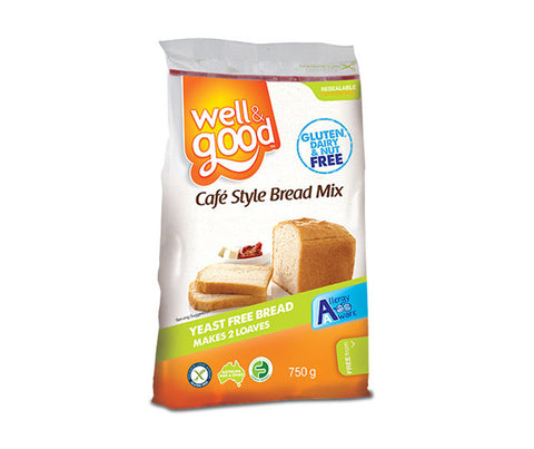 Gluten Free Cafe Style Bread Mix. 750g. (SSL10)