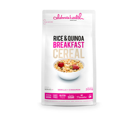 Vanilla Rice & Quinoa Breakfast Cereal. 200g. (SSL24)
