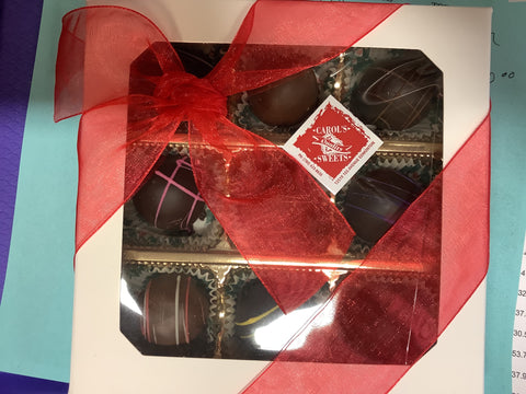Box of our handmade 9 Assorted Truffles