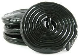 Haribo Black Licorice Wheels - 50 Pieces - 700 Grams