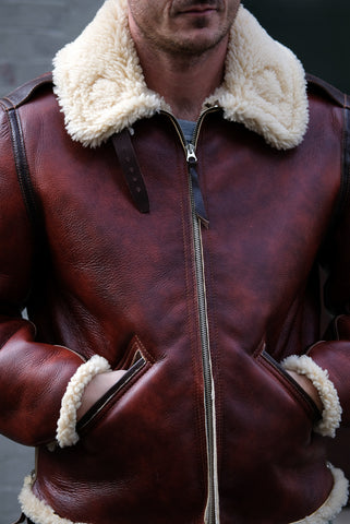 Aero Leather Clothing B6 - Redskin Shearling