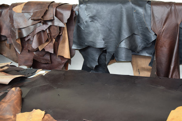 Hides ready for the cutting table at the Aero Leather Factory in Scotland