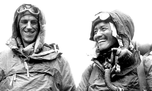 Edmund Hilary and Tenzing Norgay