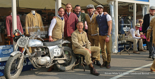 Private White VC Team outside their Goodwood Stand