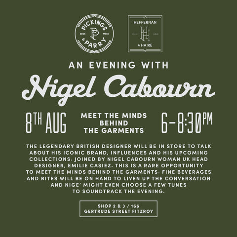 Nigel Cabourn at Pickings and Parry