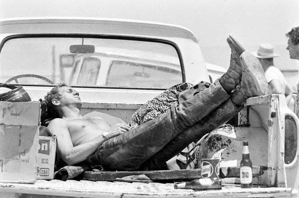 Steve McQueen - Kicking back in Red Wing 877 Boots
