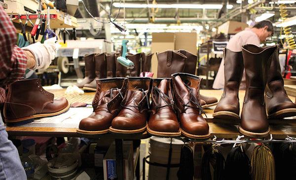 Shoe finishing at the Red Wing factory