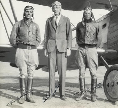 Early Pilots wearing the Type A1 Jacket