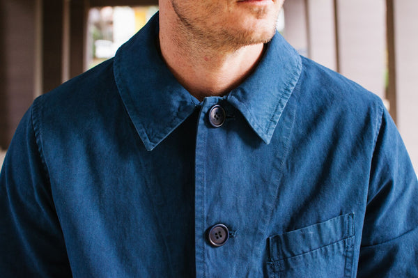 Hand Dyed Indigo Shop Coat from Blue Blue Japan
