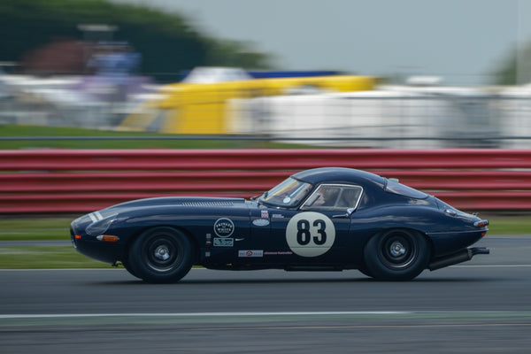Private White VC - E-Type Jaguar Racing at Goodwood
