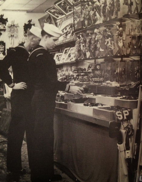 USN Personnel Shopping for Souvenirs in Post WW2 Japan