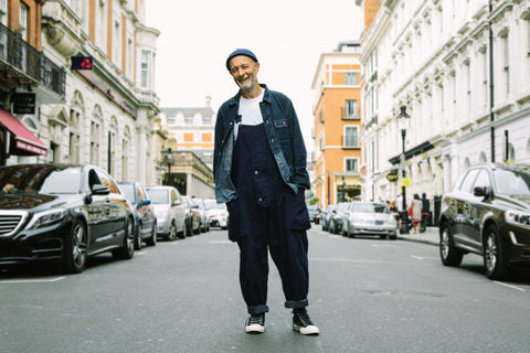 Nigel Cabourn in the Lybro Naval Dungarees