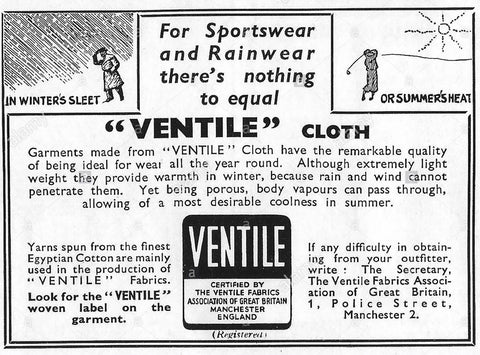Ventile Advertising in Country Life Magazine