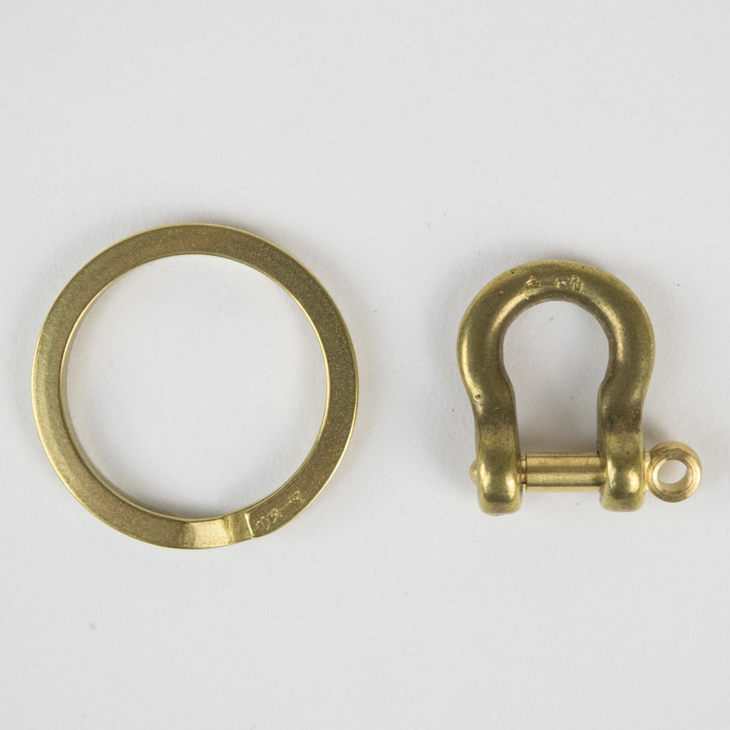 KOBASHI STUDIO BRASS FLAT KEY RING
