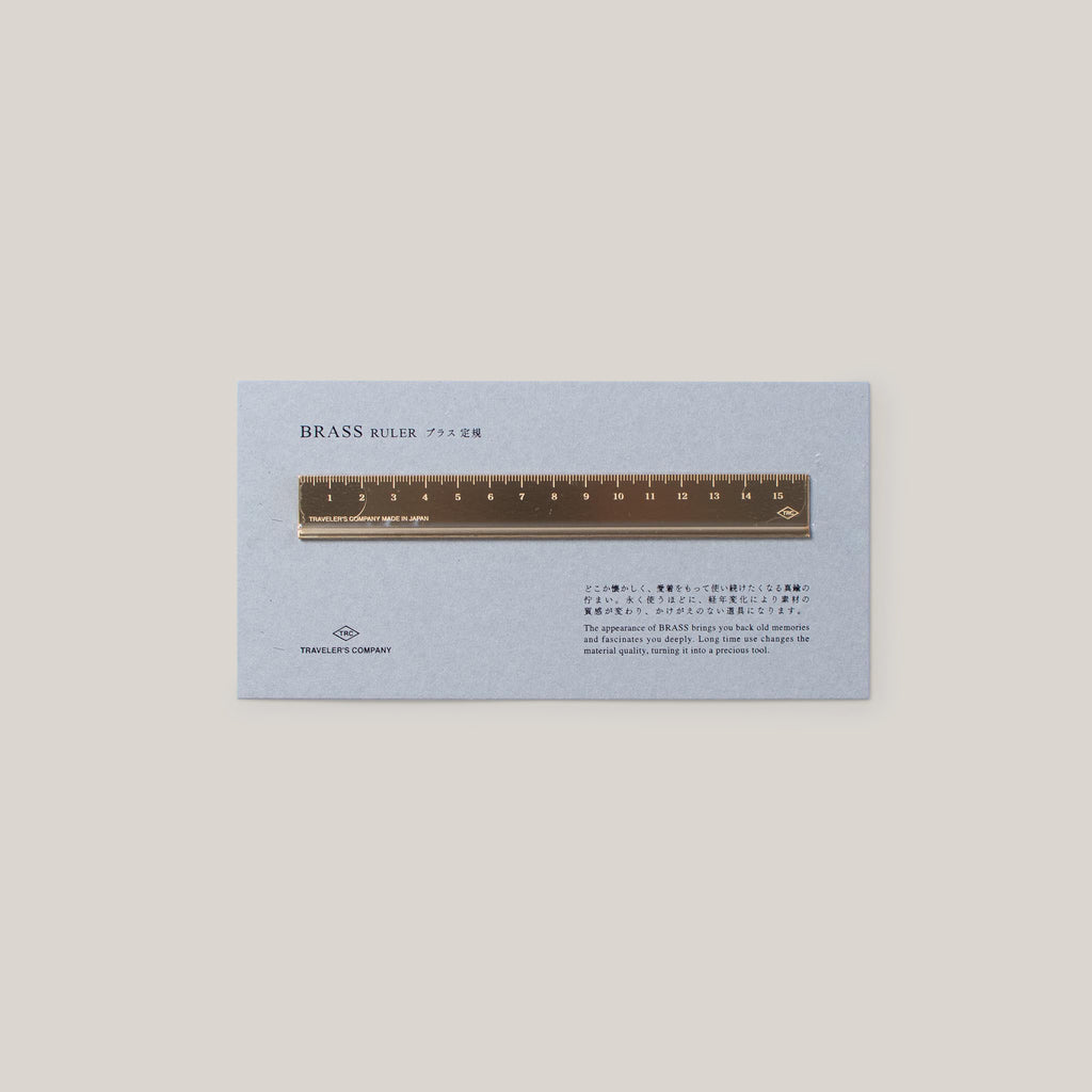 TRAVELLER'S COMPANY BRASS RULER 150MM