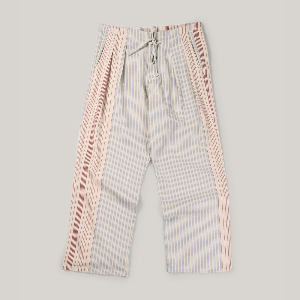 MONITALY WIDE DROP CROTCH PANTS - GUNNY SACK STRIPE
