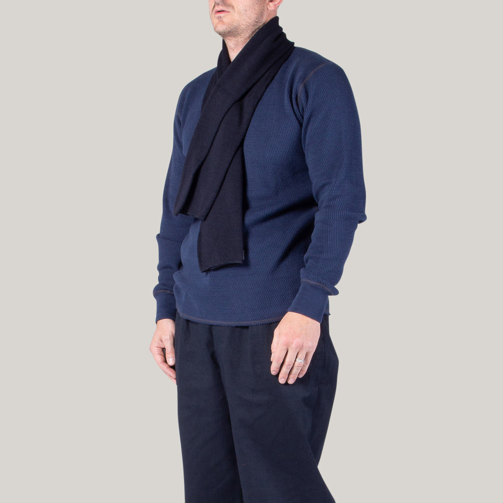 BUZZ RICKSON WOOL SCARF - NAVY
