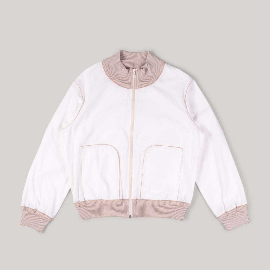 OLD HANDS TRACK JACKET - WHITE NEP