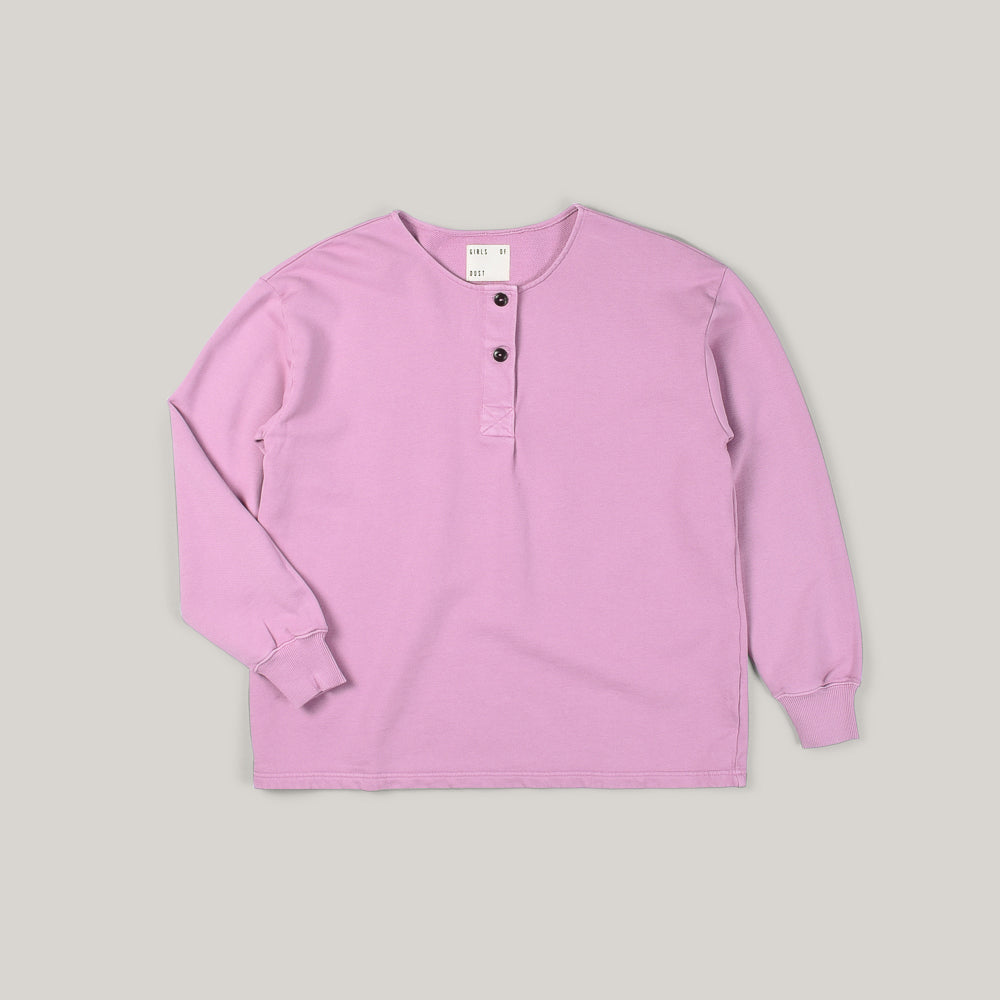 GIRLS OF DUST PAPILLON SWEATER AMERICAN FLEECE - ORCHID