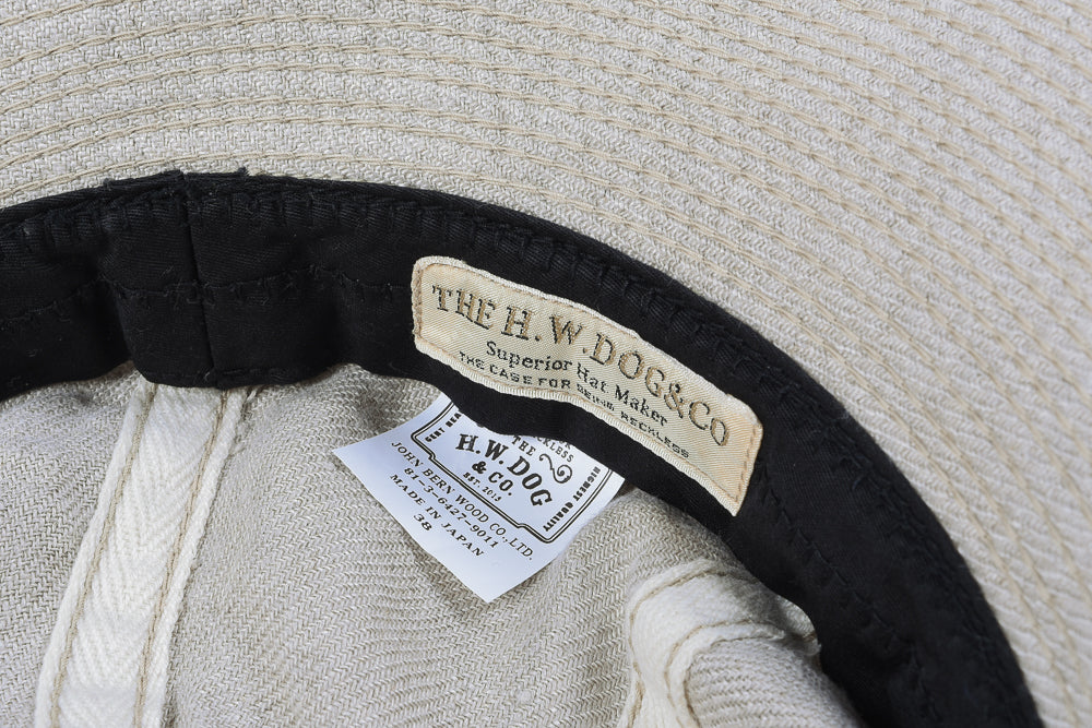 H.W. DOG & CO. LINEN FATIGUE HAT - NATURAL
