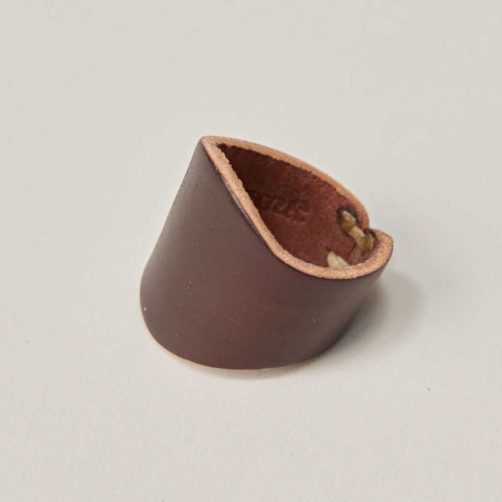 YUKETEN LEATHER RING - CORDOVAN