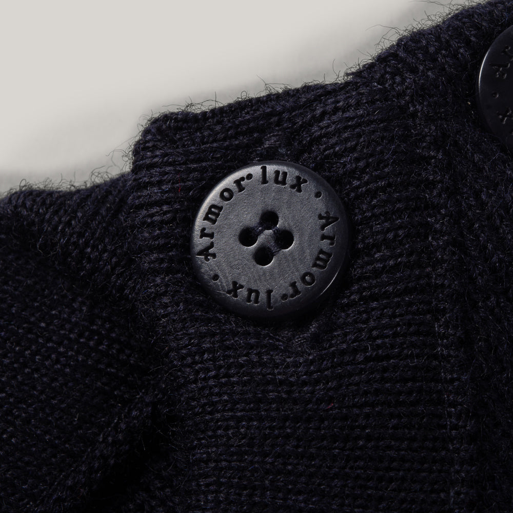 ARMOR LUX SAILOR SWEATER WITH SHOULDER BUTTONS NAVY BLUE