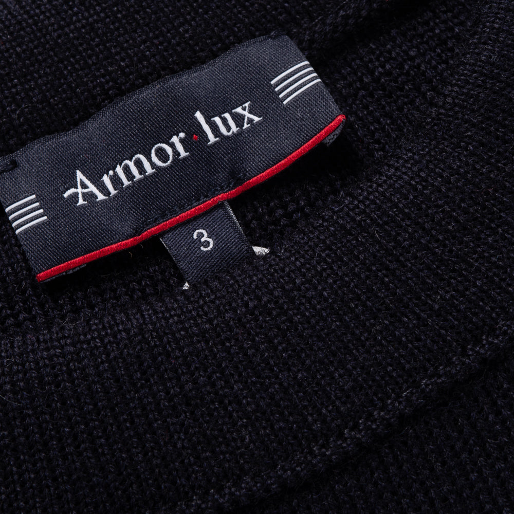 ARMOR LUX SAILOR SWEATER WITH SHOULDER BUTTONS - NAVY BLUE