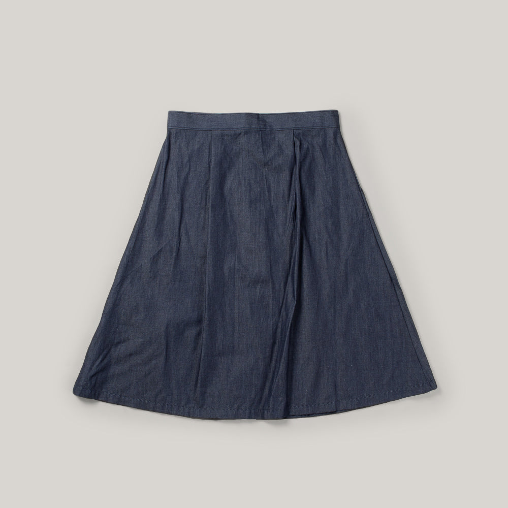 USED RAILCAR DENIM SKIRT