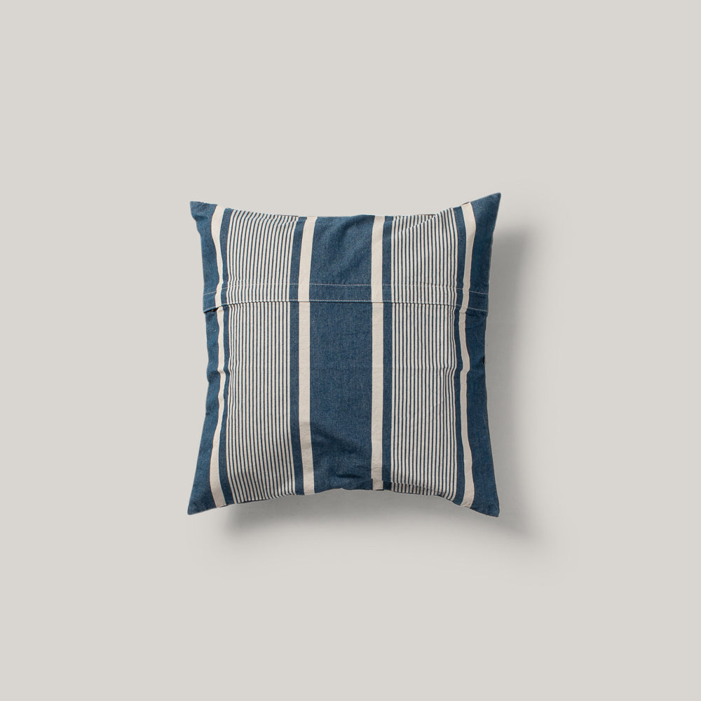 BASSHU CHAMBRAY STRIPE CUSHION COVER