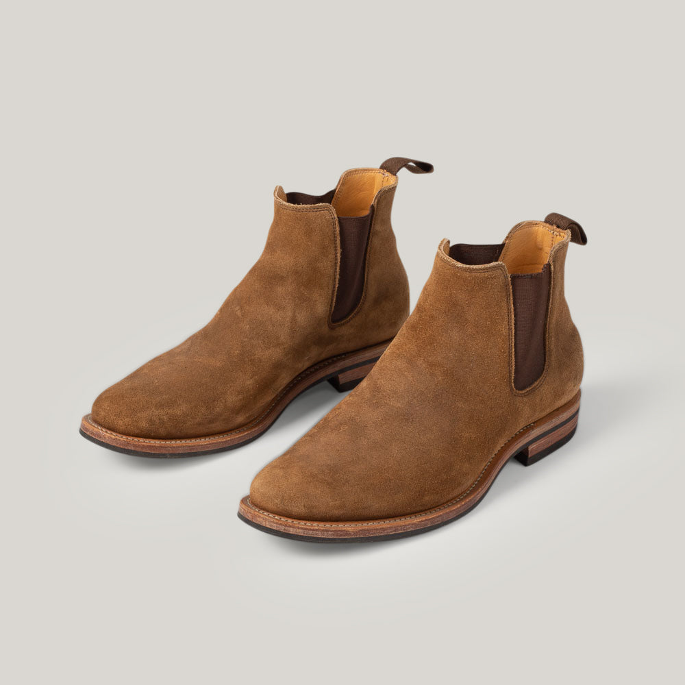 USED VIBERG CHELSEA BOOT  - SNUFF CALF SUEDE